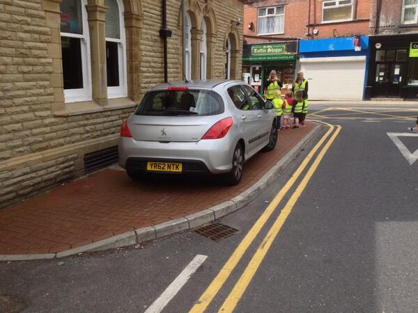 YR62 NTK displaying Selfish Parking