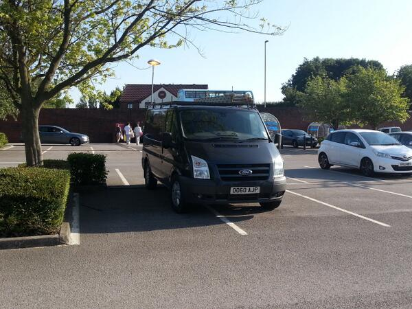 DO60 AJP displaying Inconsiderate Parking