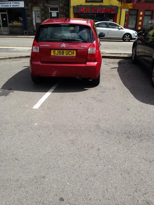SJ58 UCH displaying Inconsiderate Parking