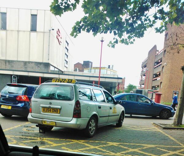 KJ54 DNB displaying Selfish Parking