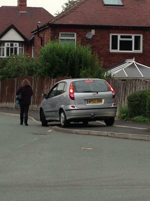 WP02 URR displaying Inconsiderate Parking