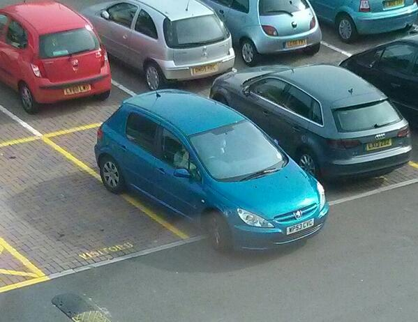WP53 CVC displaying Inconsiderate Parking