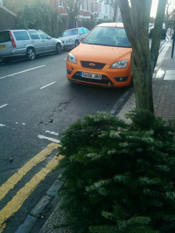 GU56 JBO displaying Selfish Parking