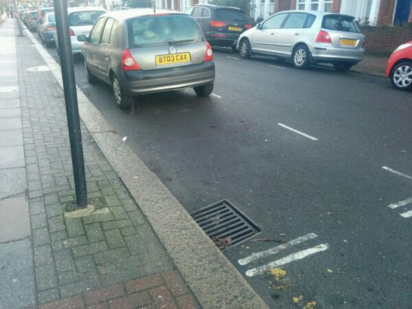 BT03 CAX displaying Inconsiderate Parking