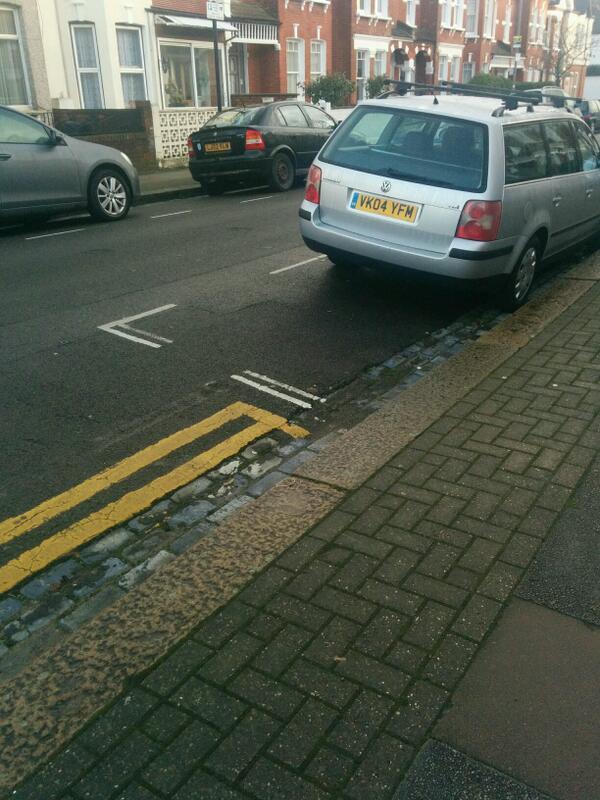 VK04 YFM displaying Inconsiderate Parking
