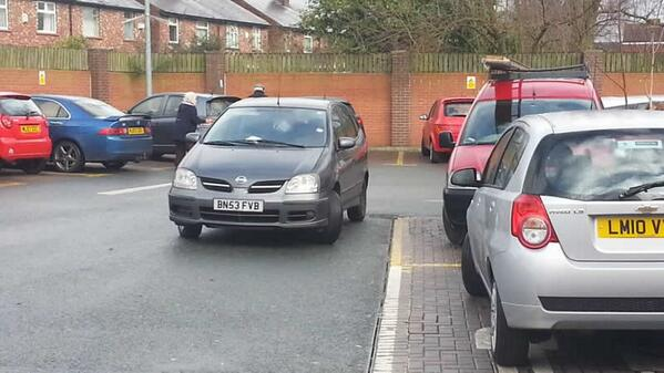 BN53 FVB displaying Inconsiderate Parking