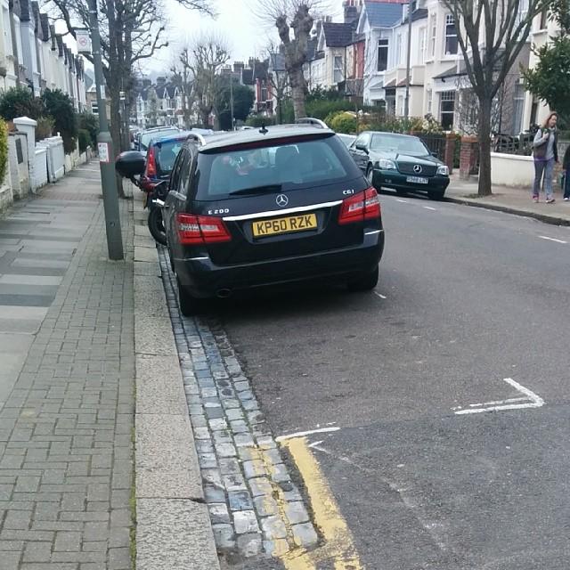 KP60 RZK displaying Selfish Parking
