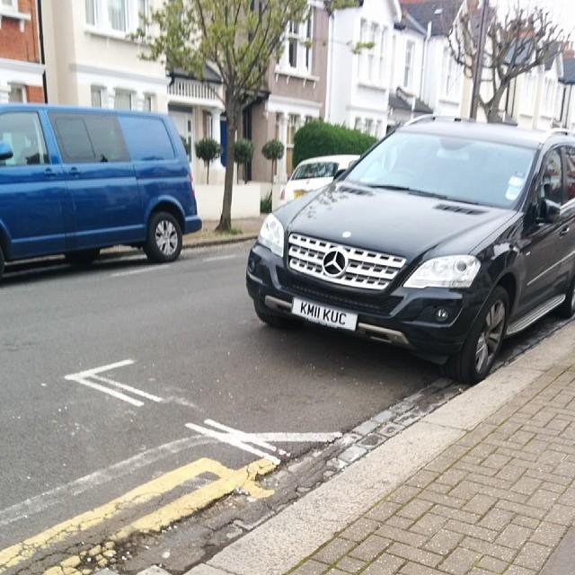 KM11 KUC displaying Inconsiderate Parking