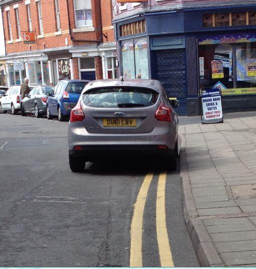 DU61 CBV displaying crap parking