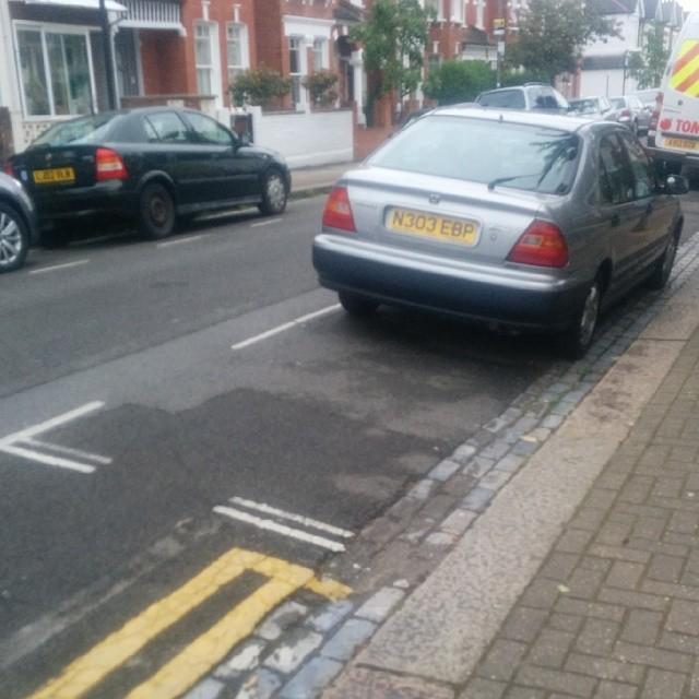 N303 EBP displaying Selfish Parking
