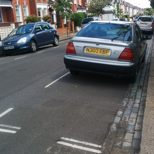 N303 EBP displaying Inconsiderate Parking