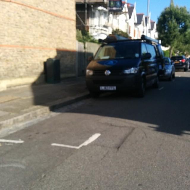 LH63 FFG displaying Inconsiderate Parking