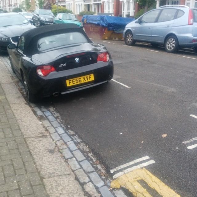 FE56 XVF displaying Selfish Parking