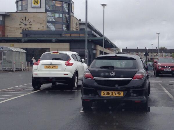 SD60 VRK displaying Selfish Parking