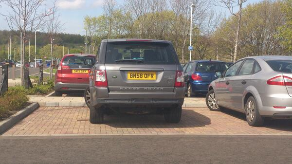 BN58 OFR displaying Inconsiderate Parking