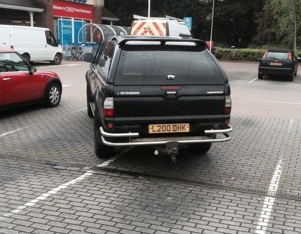 L200 DHK displaying Selfish Parking