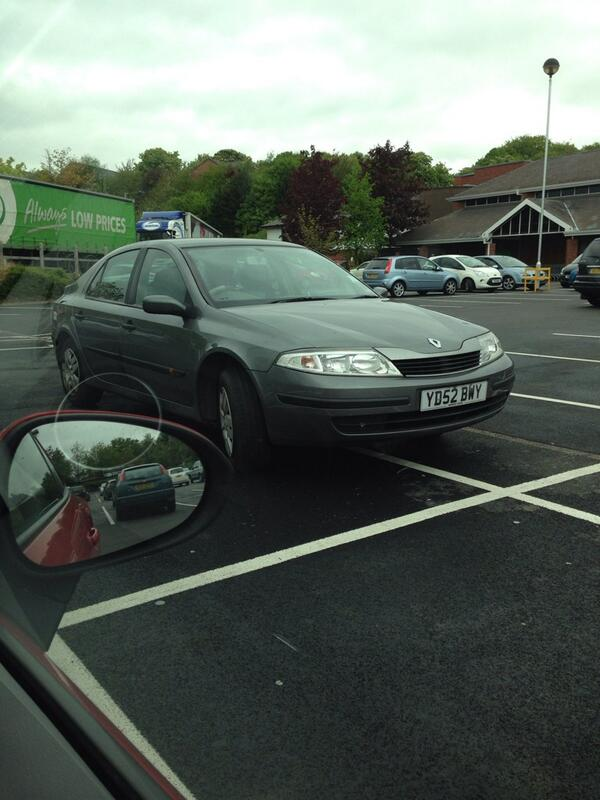 YD52 BMY displaying Inconsiderate Parking