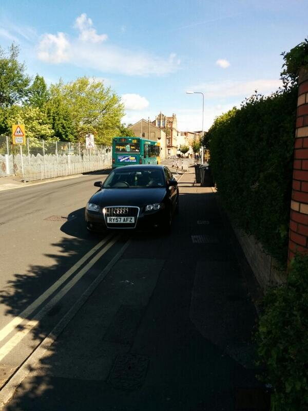 RY57 AFZ displaying Inconsiderate Parking