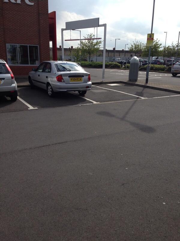 FX54 EJA displaying Inconsiderate Parking