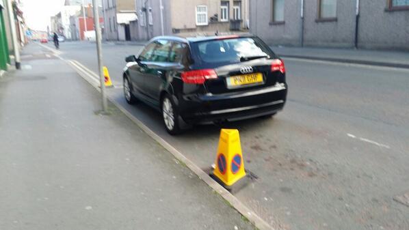 PK11 GNF displaying Selfish Parking