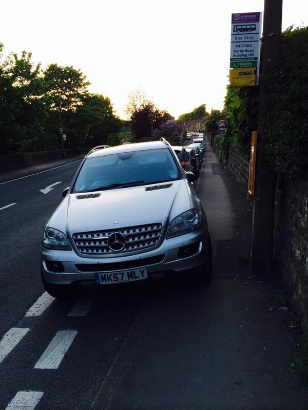 MK57 MLY displaying Selfish Parking