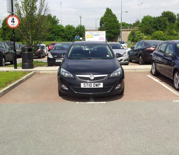 ST10 DWP displaying Selfish Parking