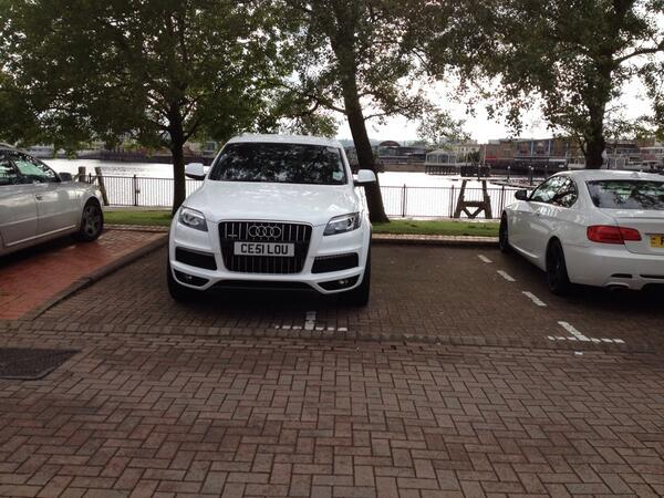 CE51 LOU displaying Inconsiderate Parking