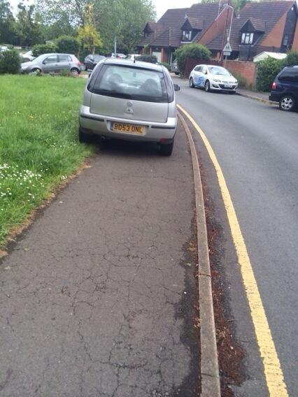 BD53 ONL displaying Selfish Parking