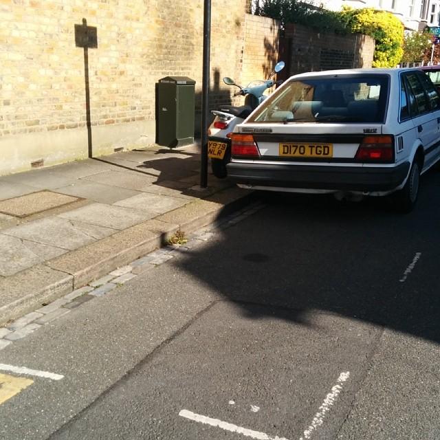 D170 TGD displaying crap parking