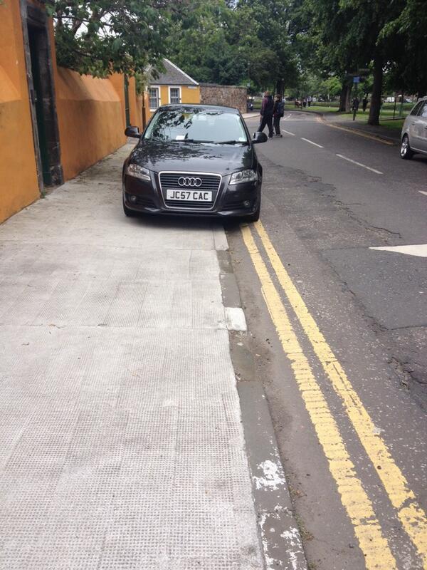 JV57 CVC displaying Selfish Parking