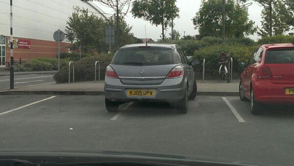 KJ05 UPW is an Inconsiderate Parker