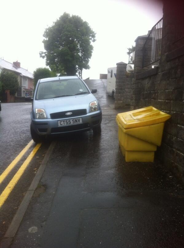 CT55 SNV displaying Selfish Parking