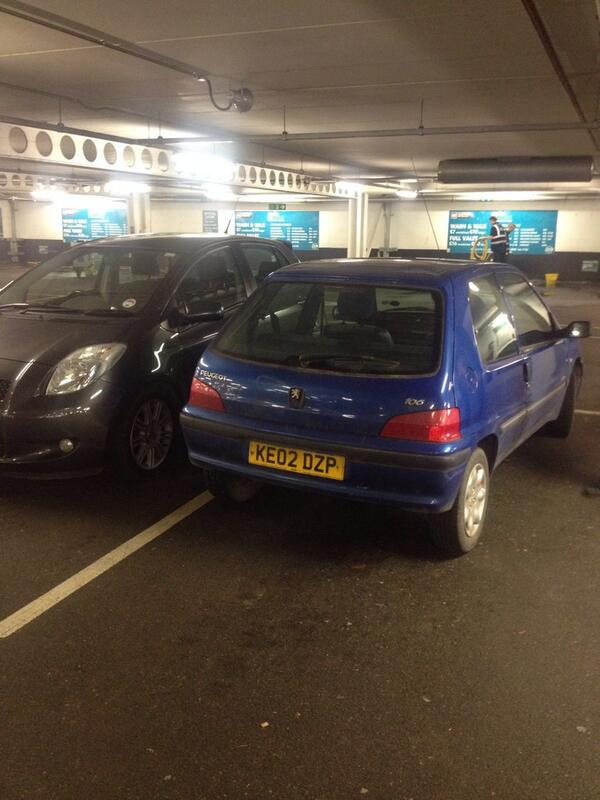 KE02 DZP displaying Inconsiderate Parking
