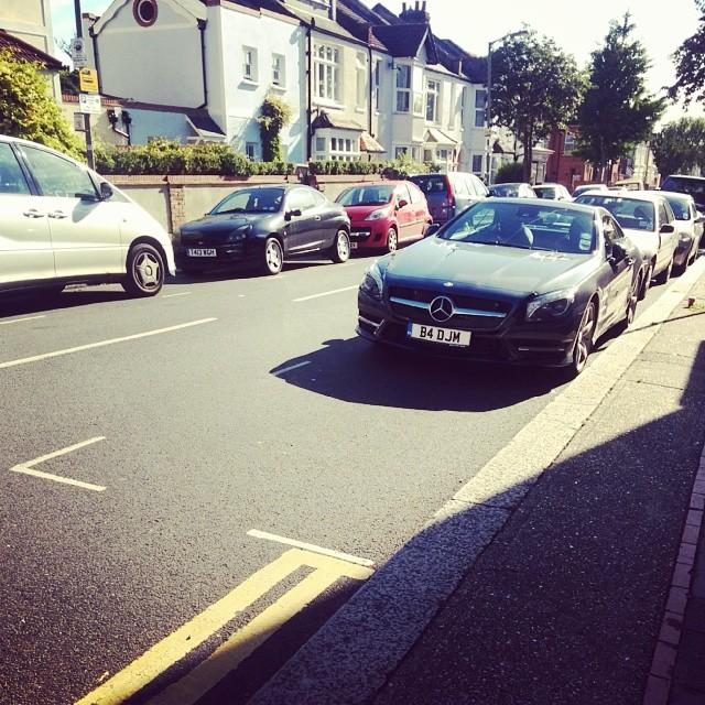 B4 DJM displaying Selfish Parking