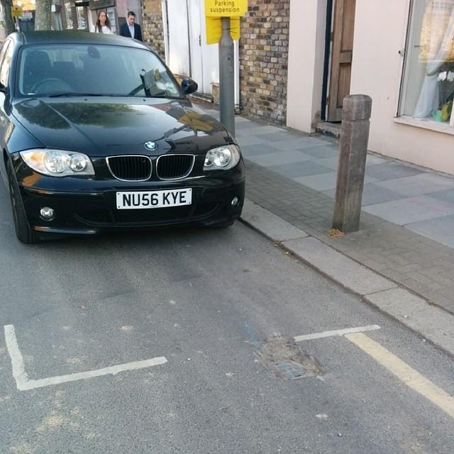 NU56 KYE displaying crap parking
