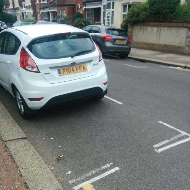 FN14 PFA displaying Inconsiderate Parking
