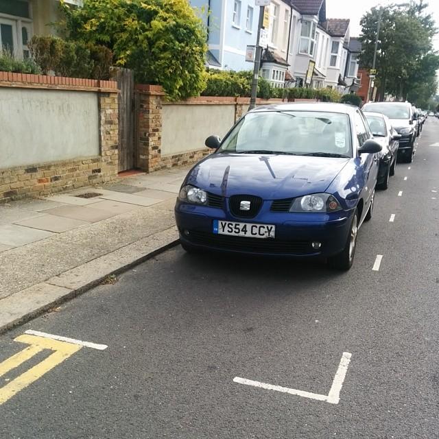 VS54 CCV displaying Selfish Parking