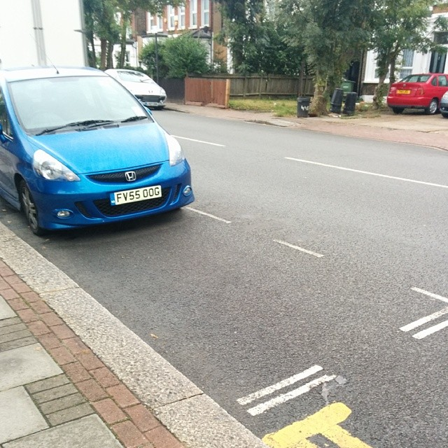 FV55 OOG displaying crap parking