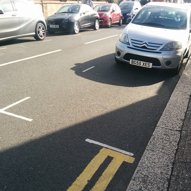BG55 XES displaying Inconsiderate Parking