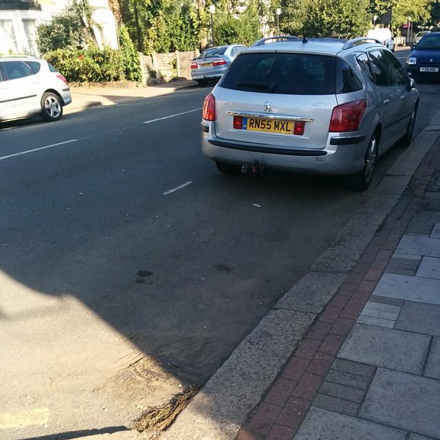 RN55 MXL displaying Inconsiderate Parking