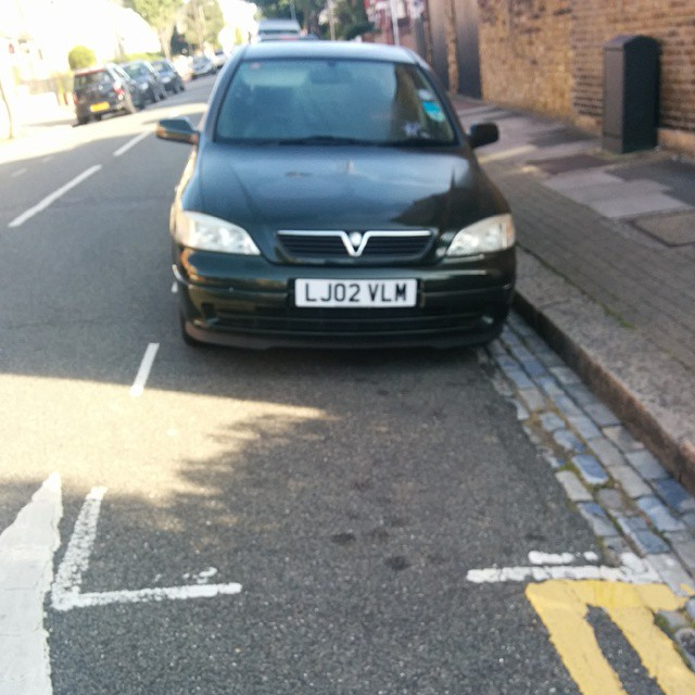 LJ02 VLM displaying Selfish Parking