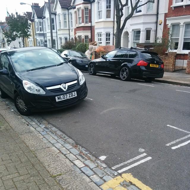 ML07 ZDJ displaying Inconsiderate Parking