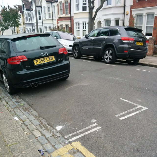 PJ58 CWN is an Inconsiderate Parker