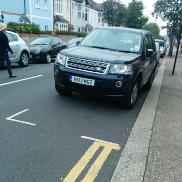 VK13 MGZ displaying Inconsiderate Parking