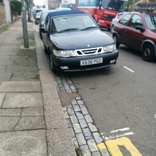 X636 PGO displaying Selfish Parking