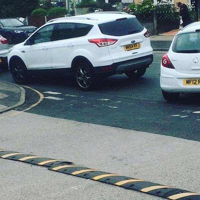 MK64 KFJ displaying Inconsiderate Parking