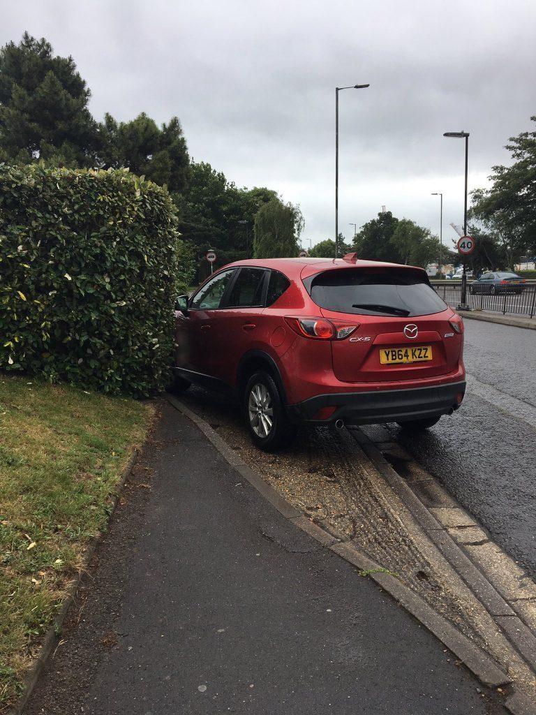 YB64 KZZ displaying Selfish Parking