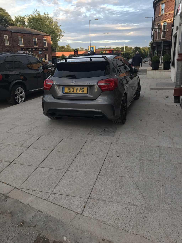 R13 VVS displaying Inconsiderate Parking