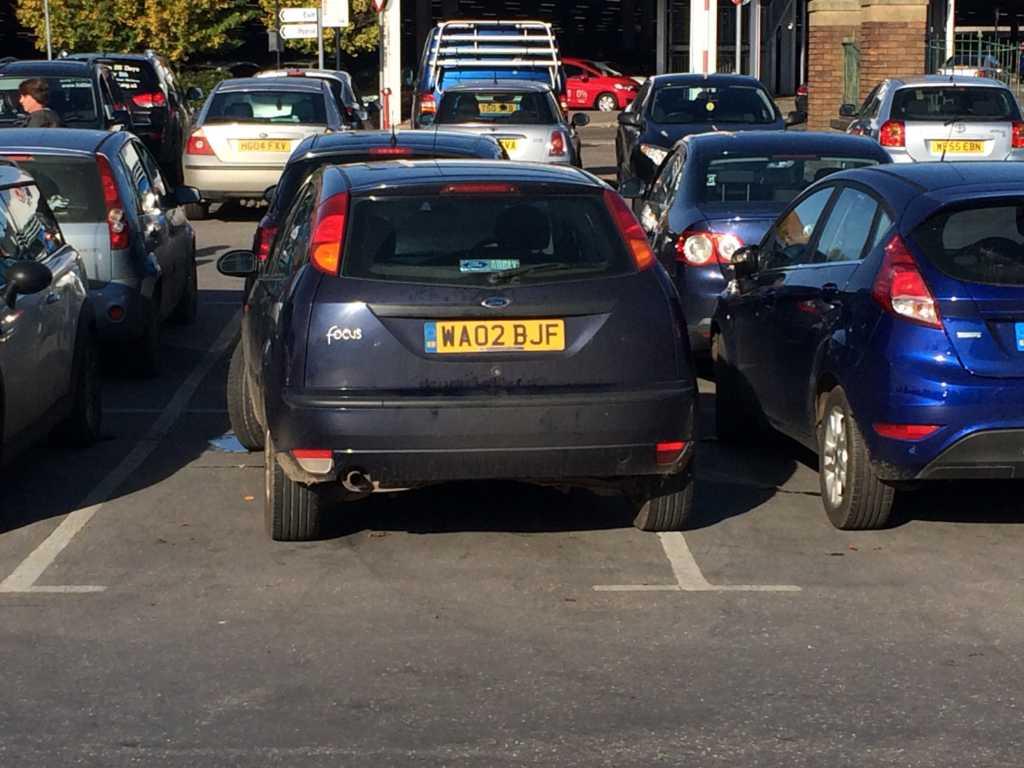 WA02BJF displaying crap parking