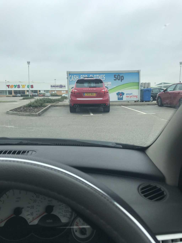 FX13 MAH displaying Inconsiderate Parking